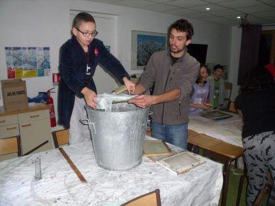 Fabrication de papier recyclé